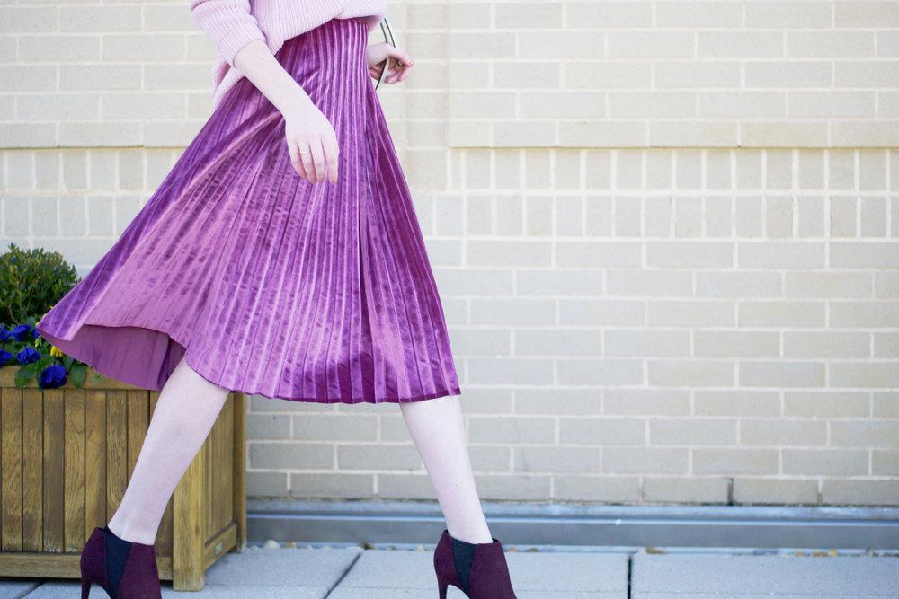 Blogger Velvet Skirt