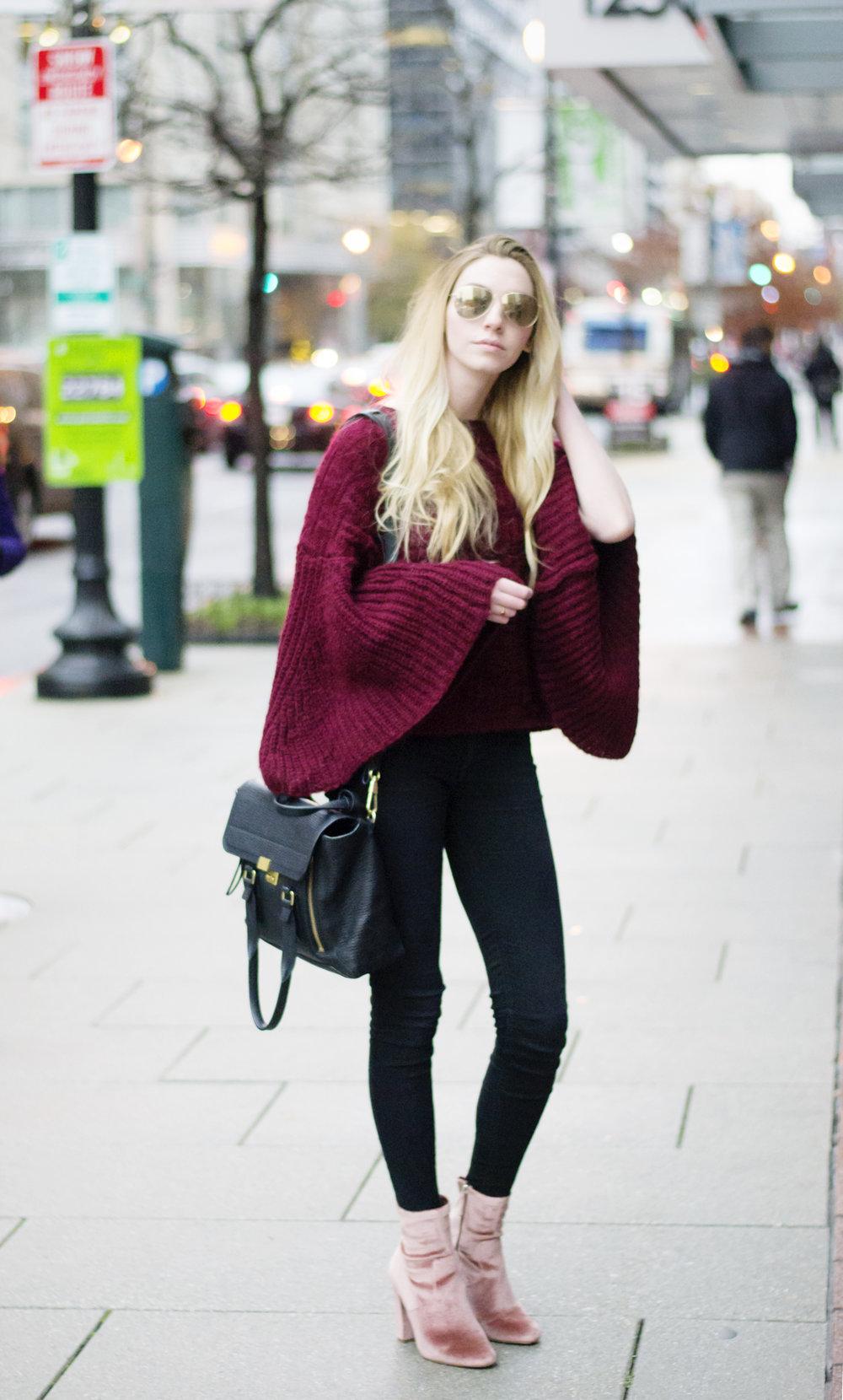 Blogger Bell Sleeve