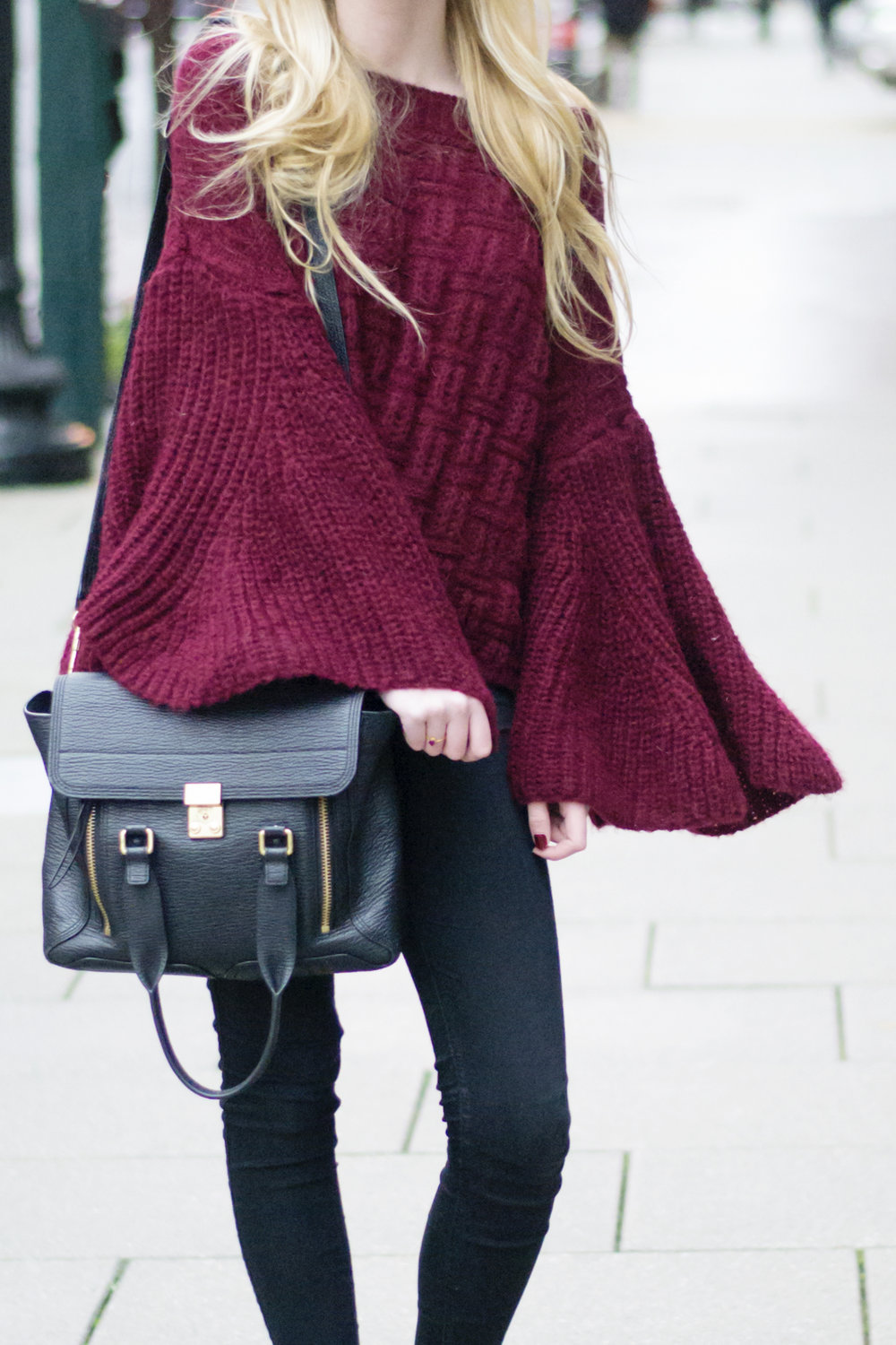 Bell Sleeve Top Sweater