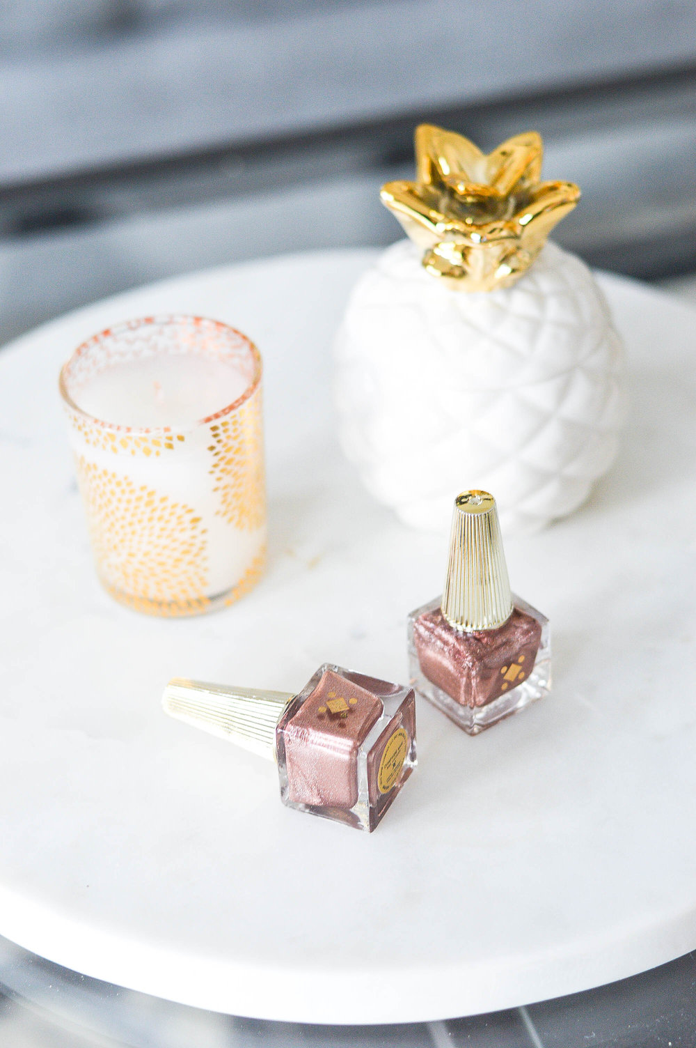 Deco Miami Gold Nail Polish Bottles