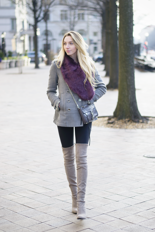 Fur Stole Blogger Street Style