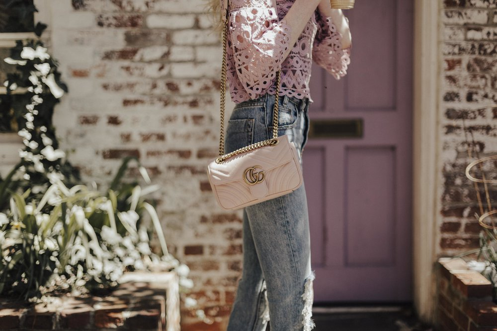 Pink Gucci Bag Blogger
