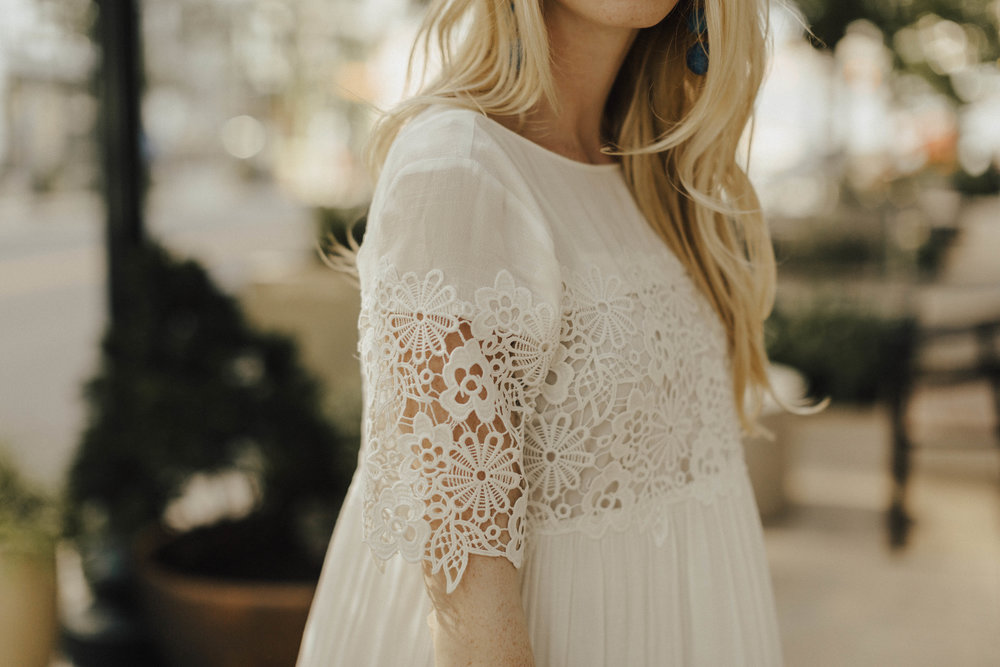 Blogger White Lace Sundress