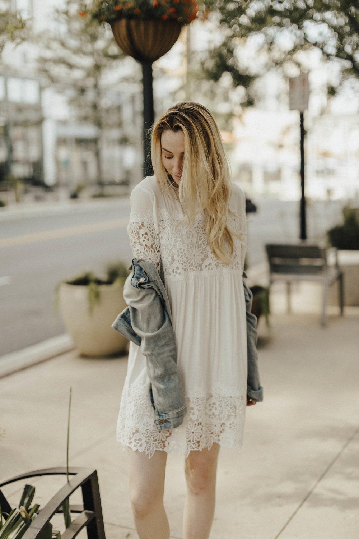 Blogger White Dress Style