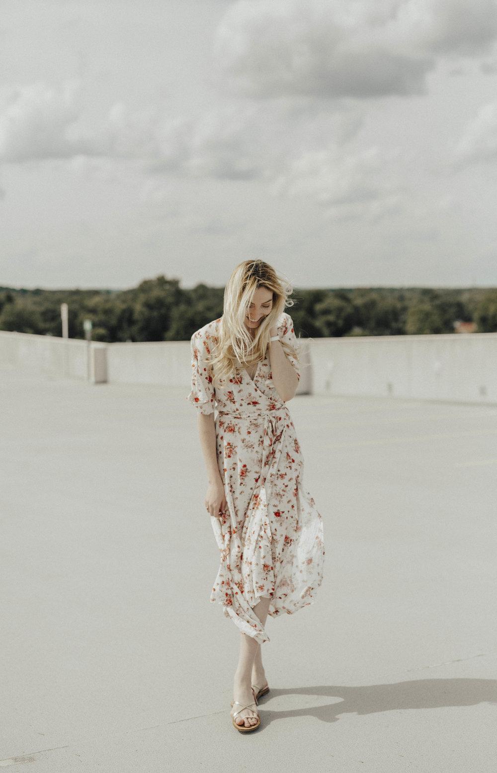 Blogger Floral Midi Dress