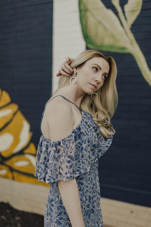 Blogger Crescent Moon Earrings