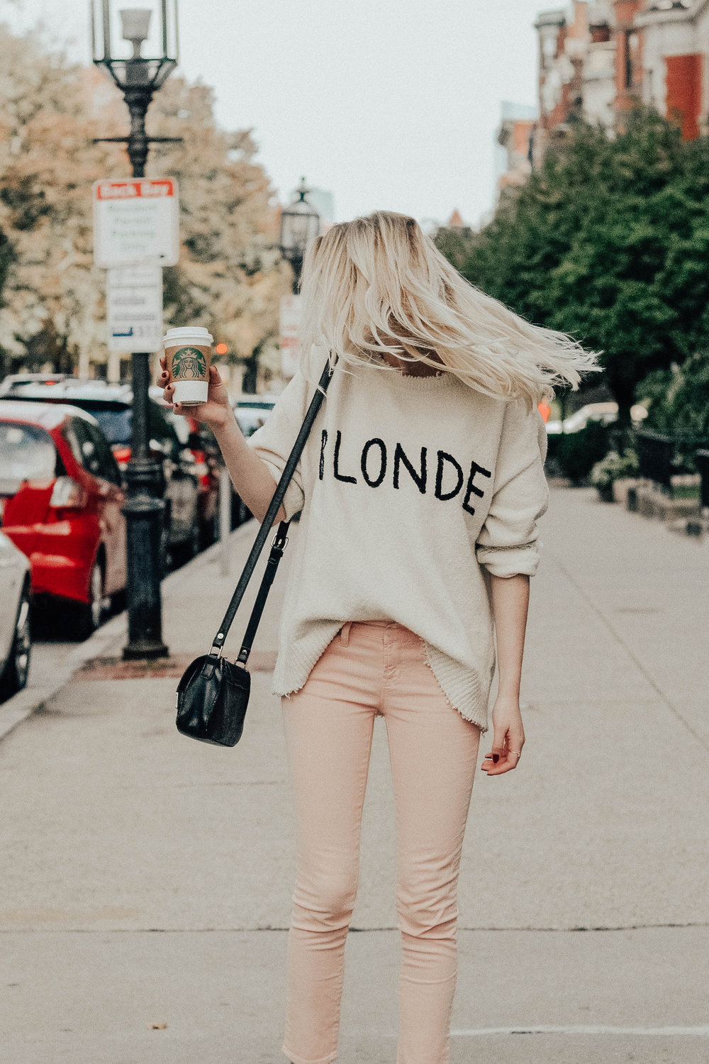 Blogger BLONDE Sweater