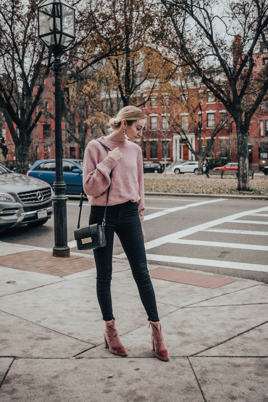 Pink Fall Sweater
