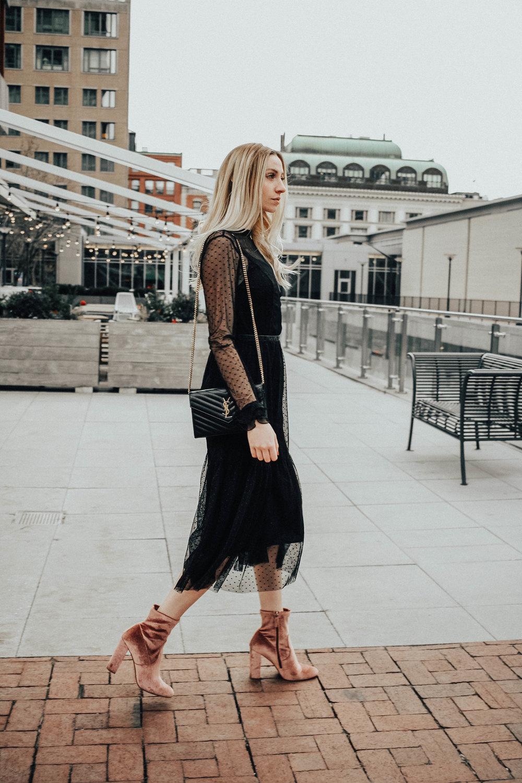 Blogger Sheer Black Dress