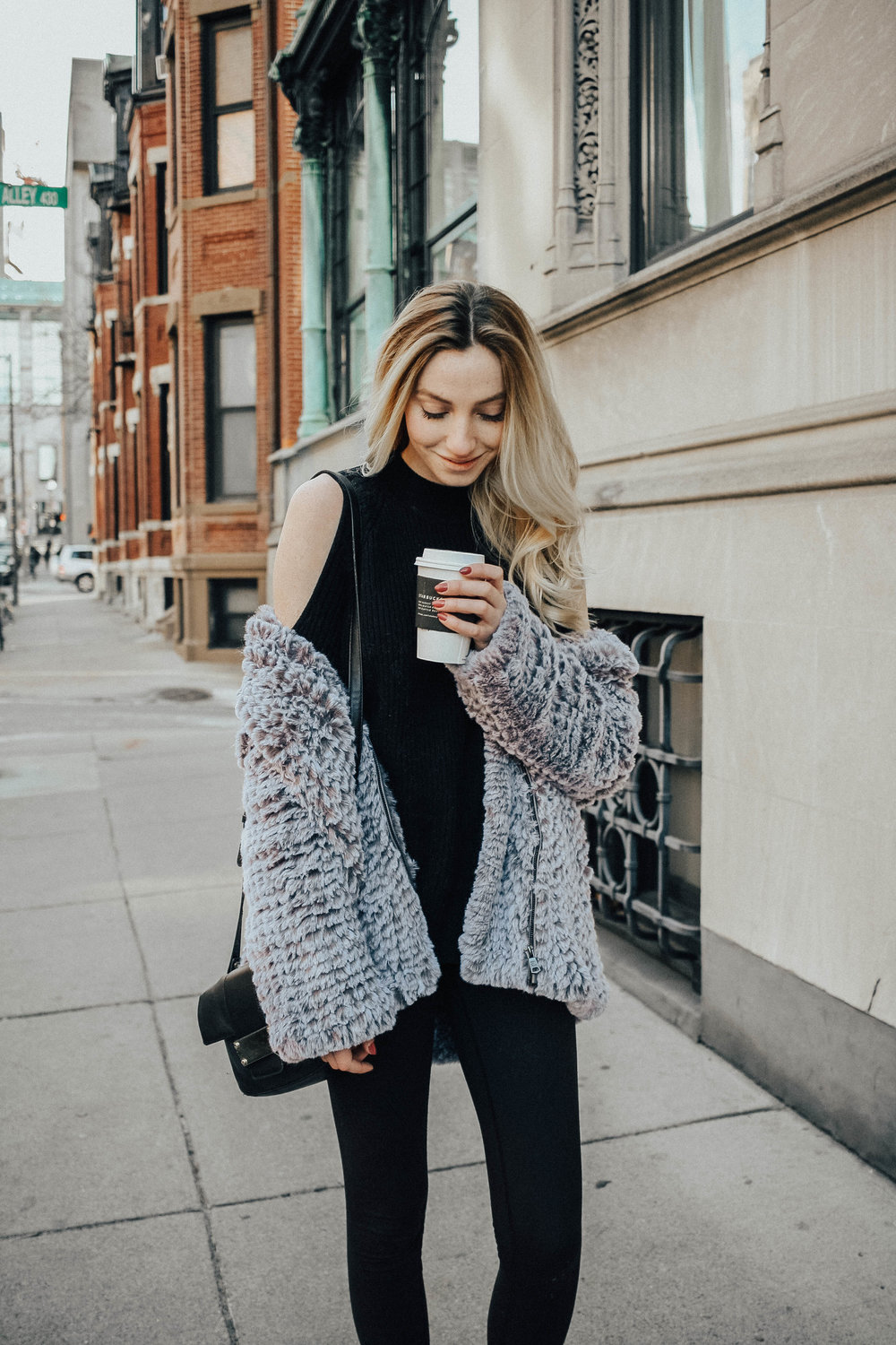 Blogger Faux Fur Coat