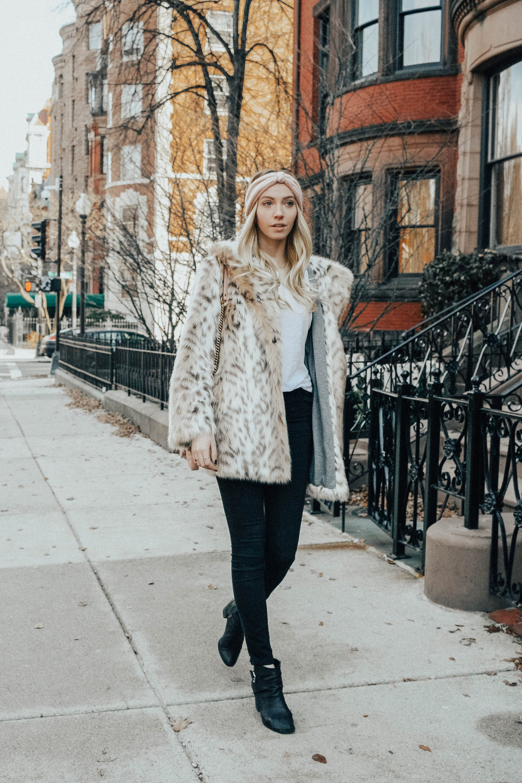 Avec Les Filles Snow Leopard Coat