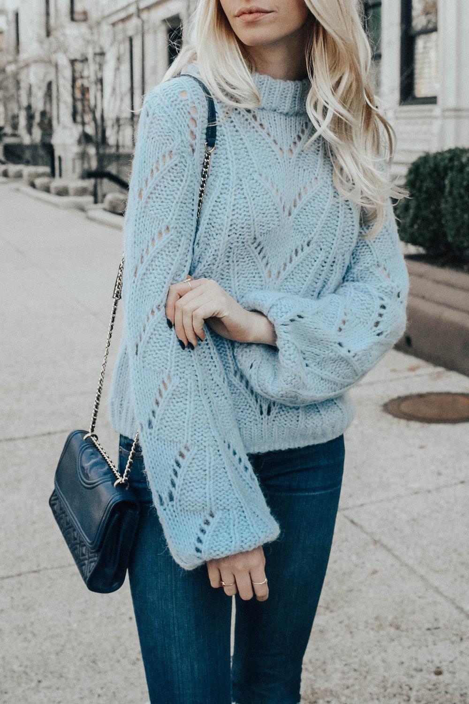Pastel Blue Sweater