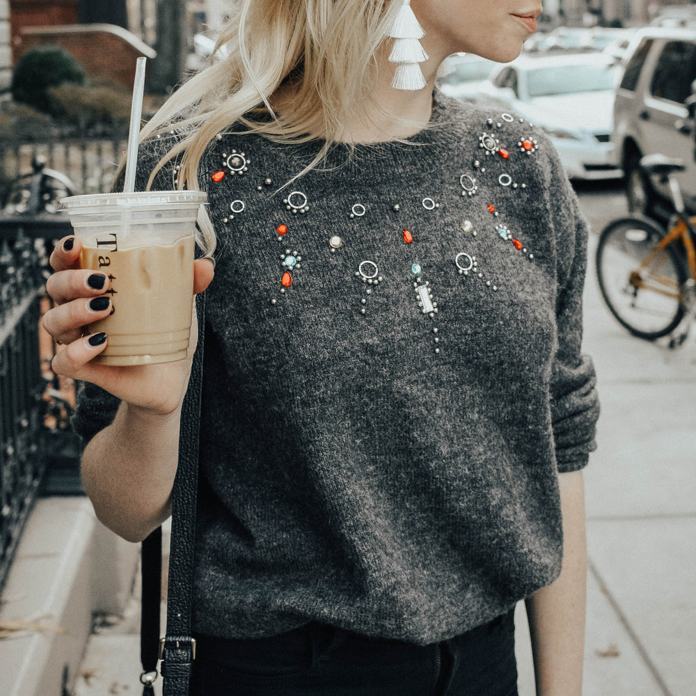 Jeweled Sweater