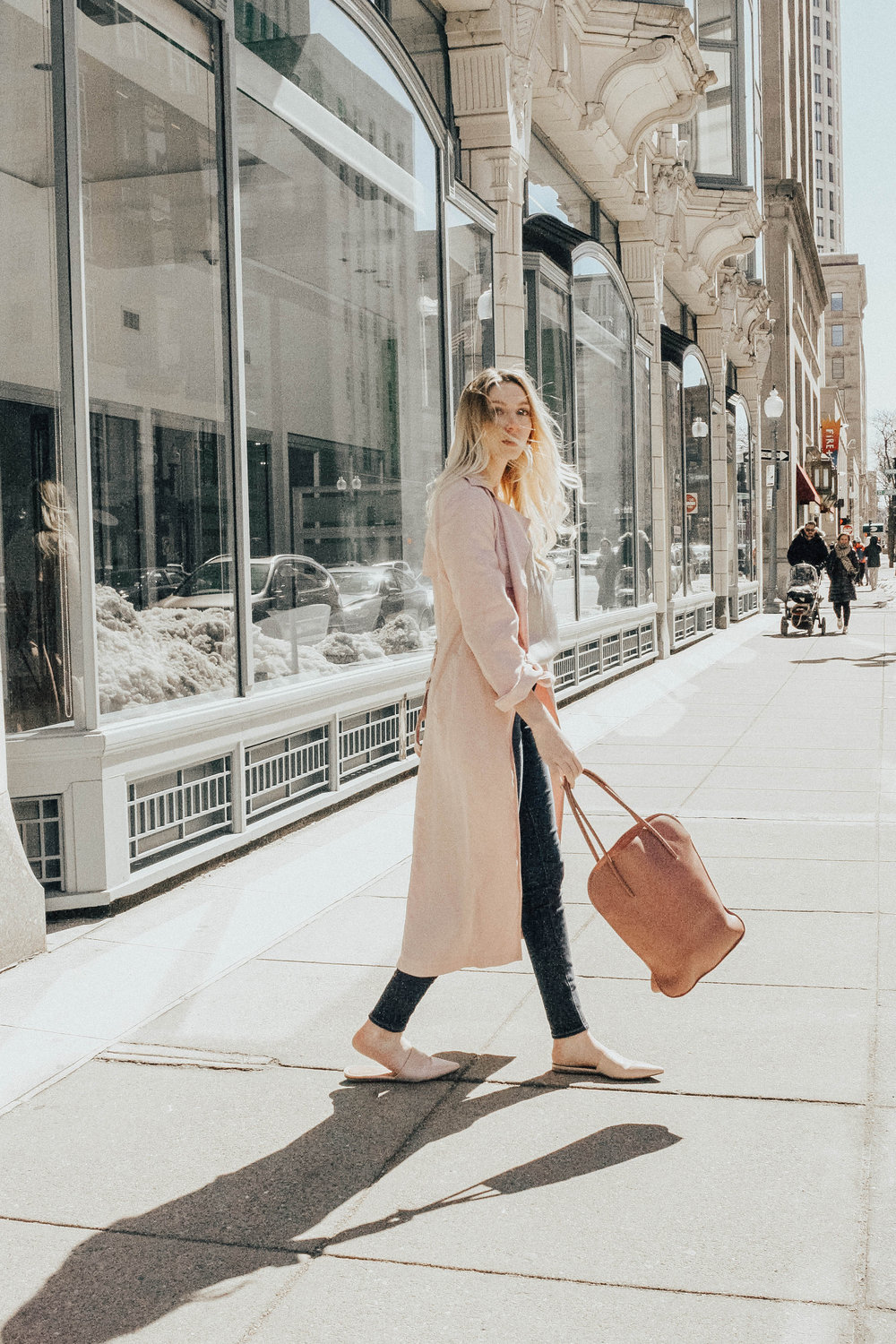 Blogger Pink Trench Coat