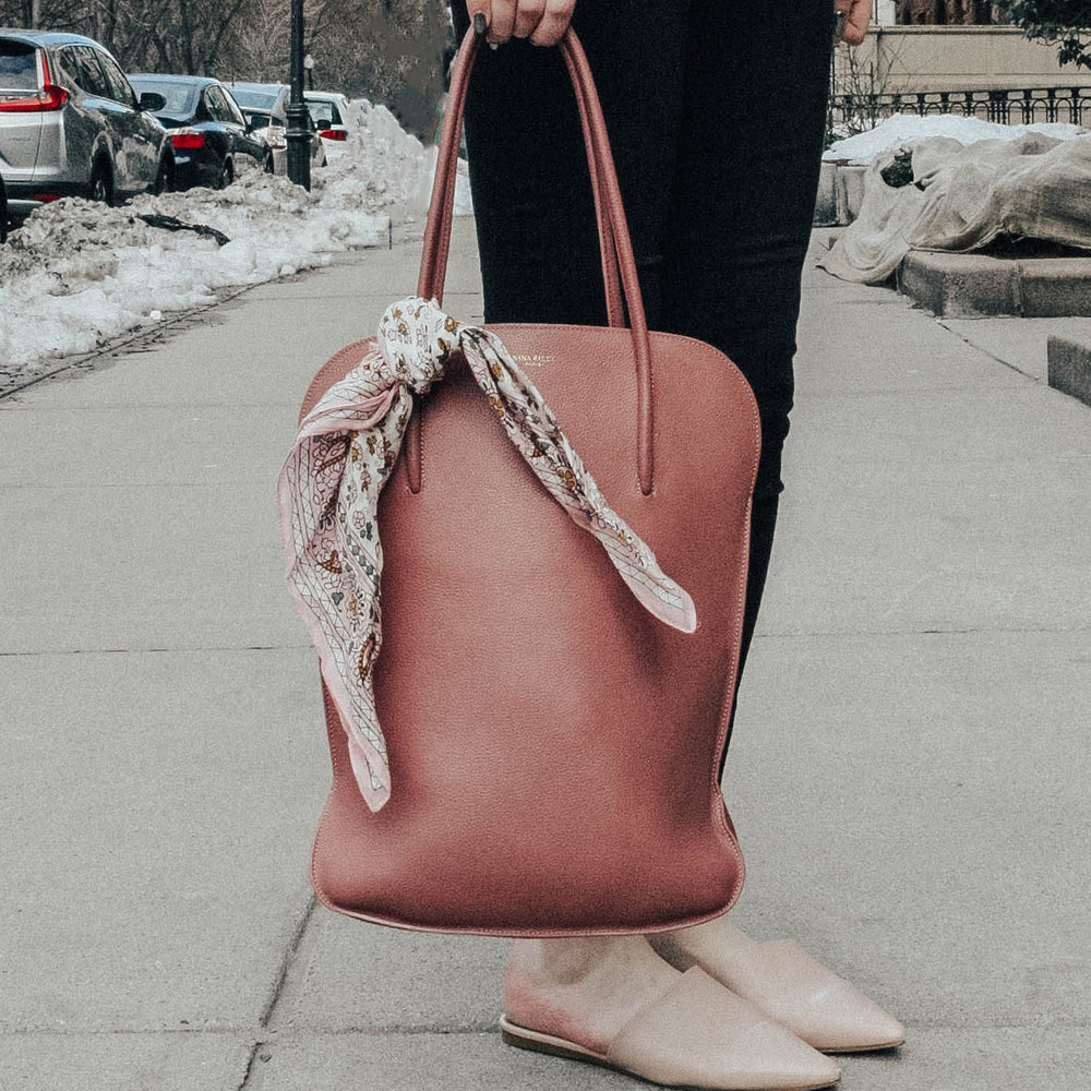 Bag with scarf | @maevestier