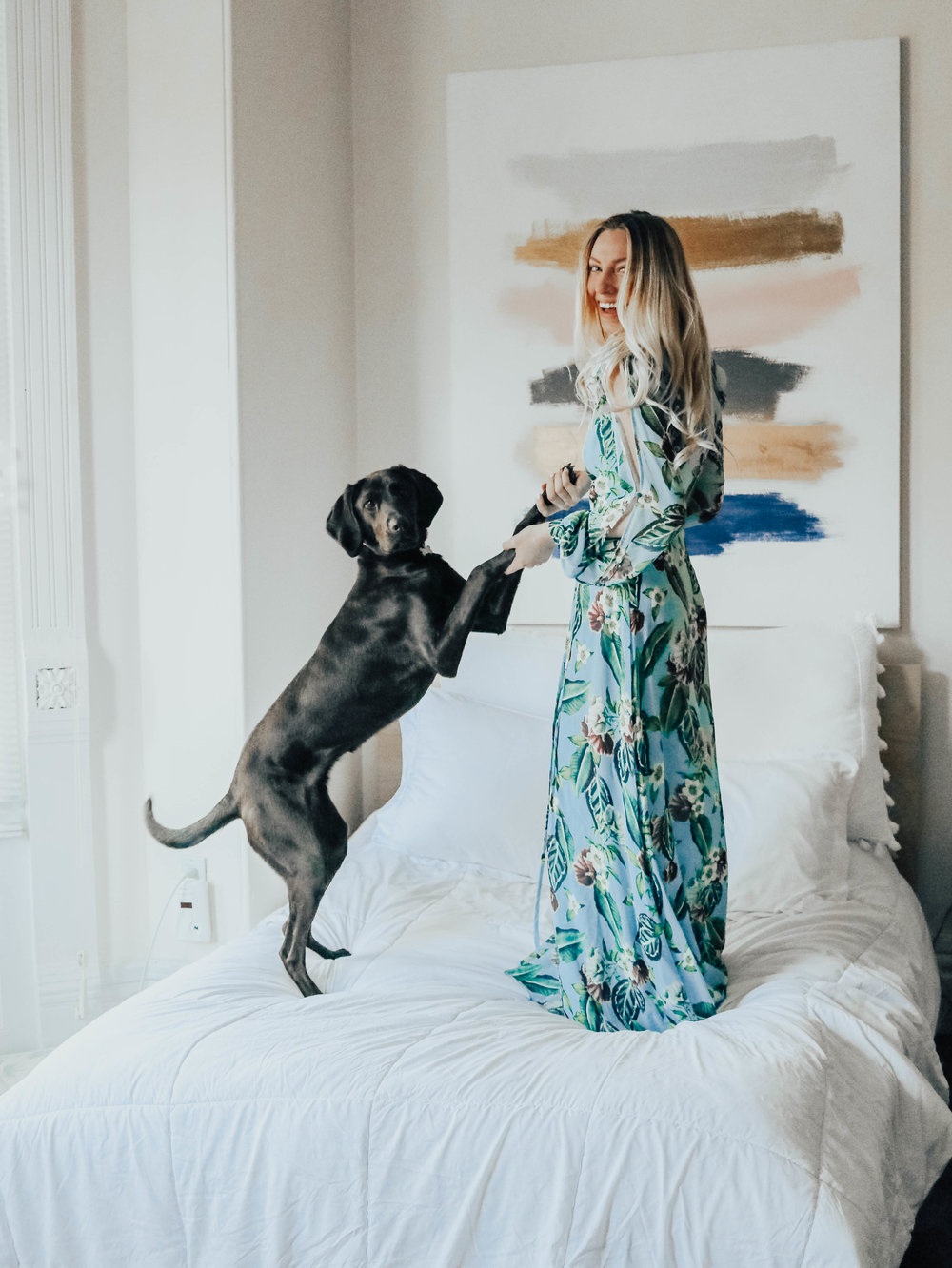 Blogger Floral Maxi Dress | @maevestier