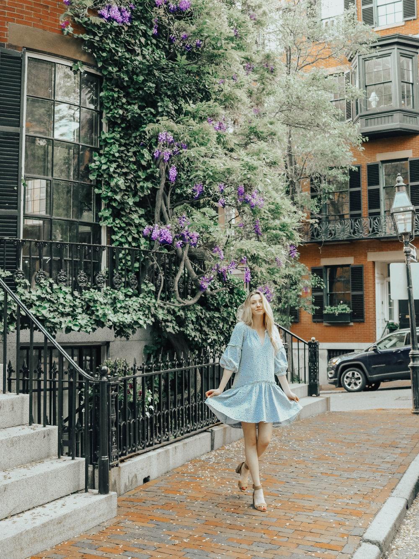 Blue Eyelet Dress | @maevestier