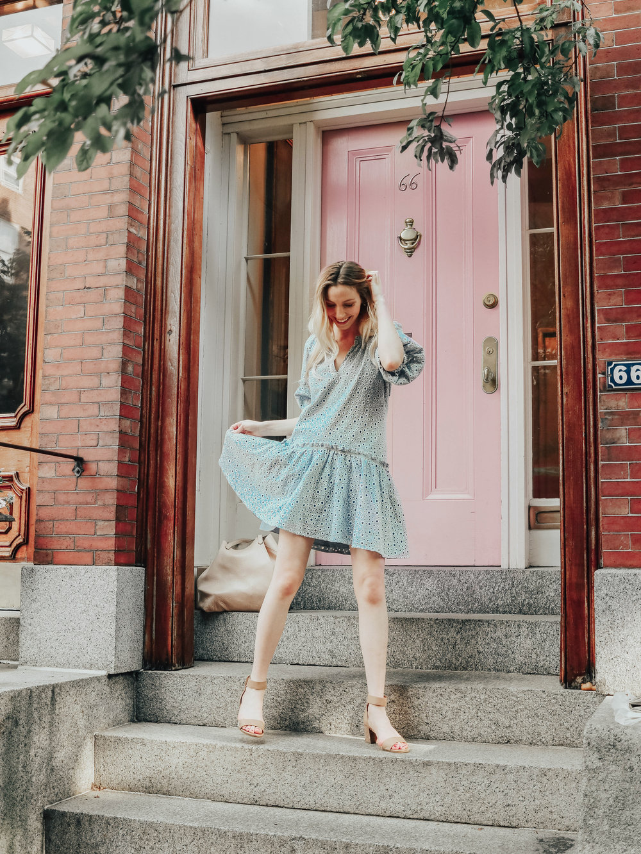 Blogger Eyelet Dress | @maevestier