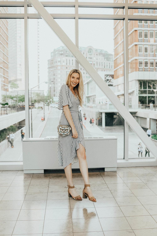 Striped Wrap Dress | @maevestier