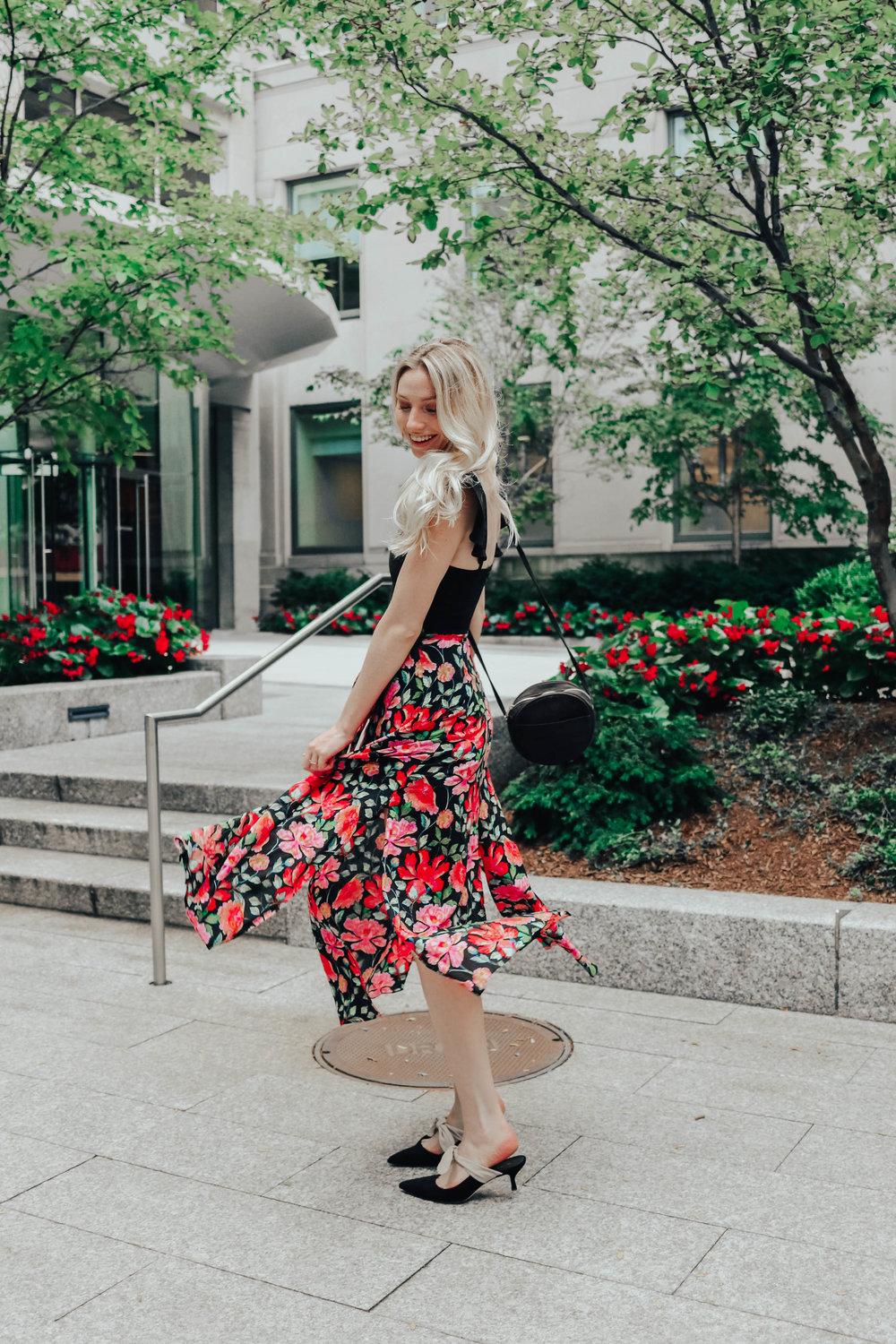 Patterned Midi Skirt | @maevestier