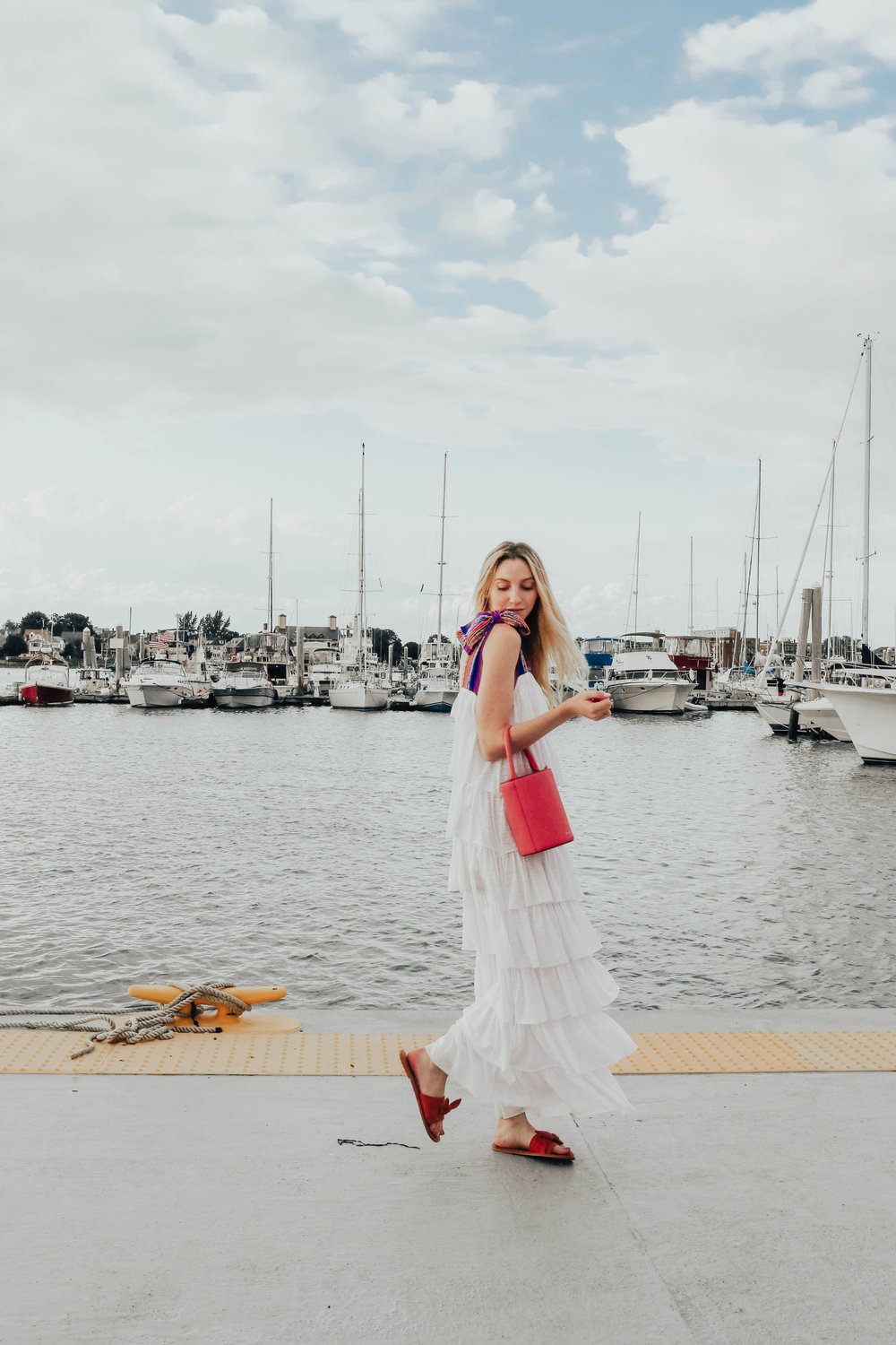 Ruffle Maxi Dress | @maevestier