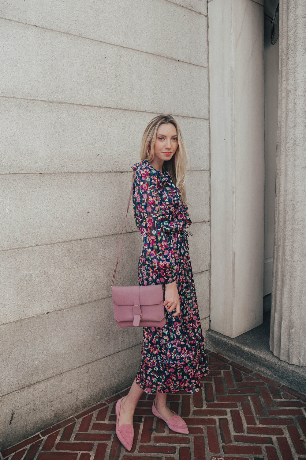 & Other Stories Floral Print Midi Dress | @maevestier