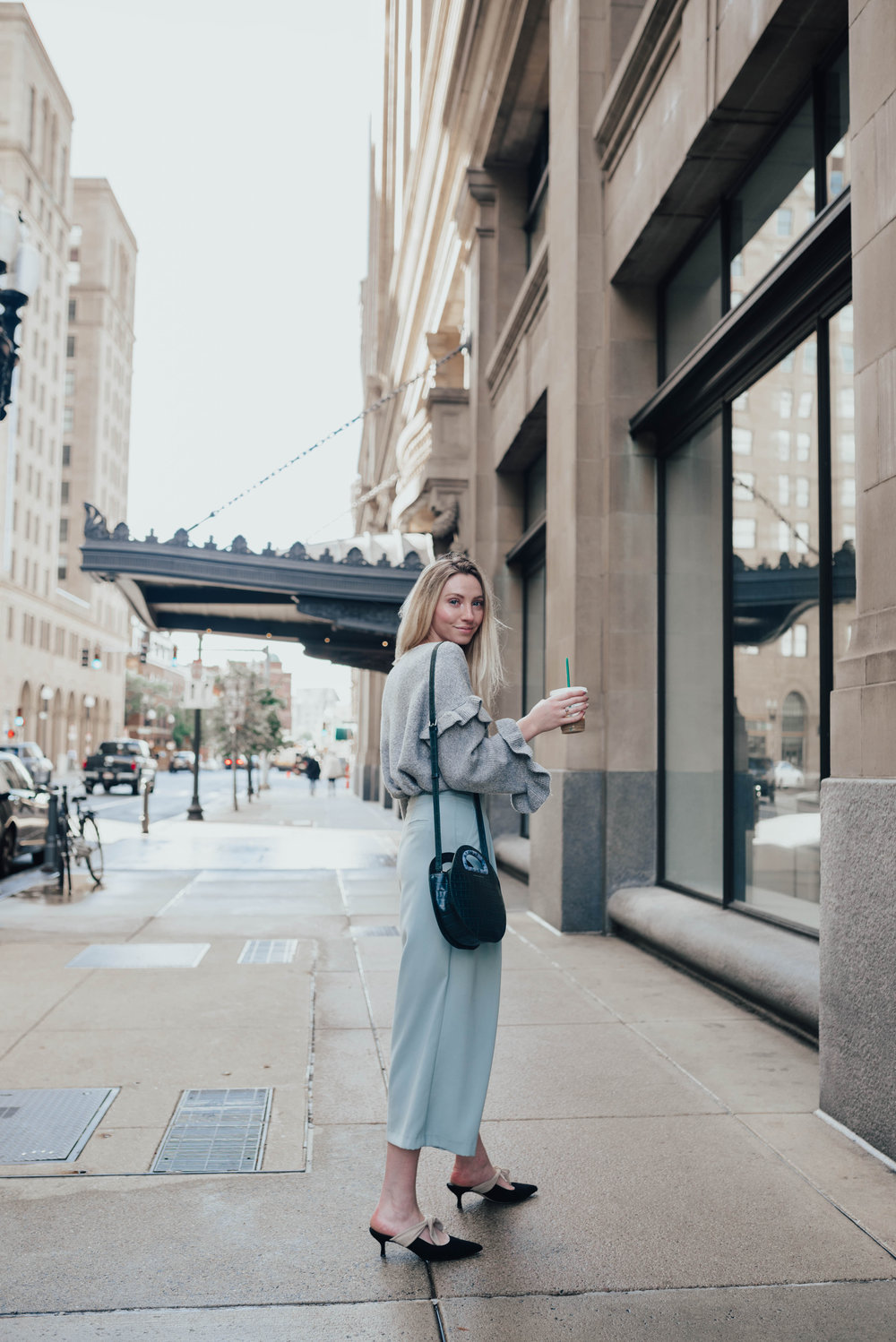 Ruffle Sweater Outfit | @maevestier