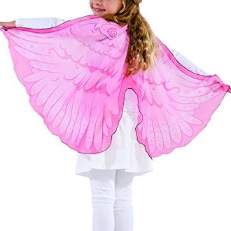 Pink Fabric Angel Wings