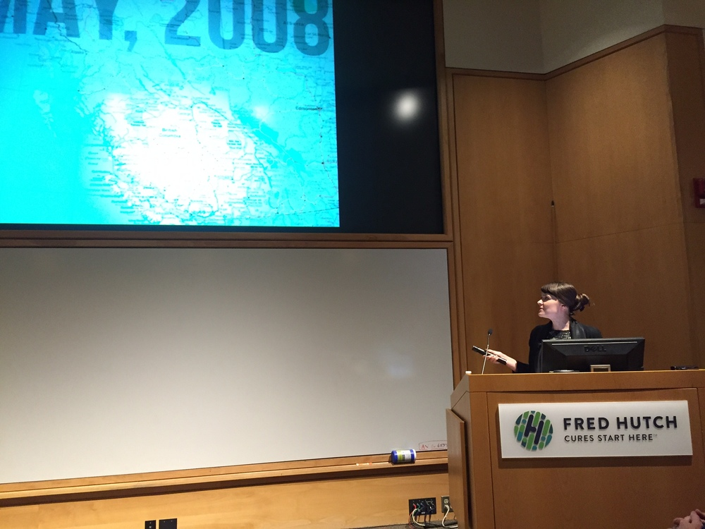 Jennifer Gardy presents at Fred Hutch.