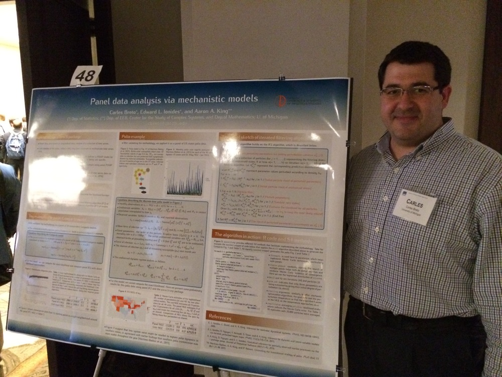 Carles Breto (CIDID/U Michigan) presenting his poster.