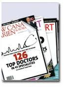 126 top doctors - magazine front cover