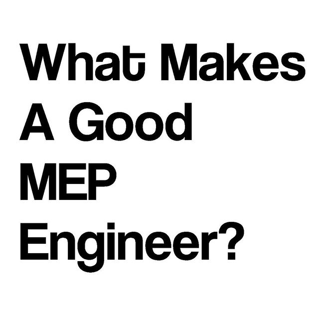 We will be posting over the coming weeks for #Fridayintroductions what our people believe makes a good #mepengineer . . Feel free to comment on things you think make an MEP stand out! . . #dcmep #novamep #mdmep #design #engineer #engineering #architecture #mep #designer #teamwork #consultant #buildings #construction #collaboration