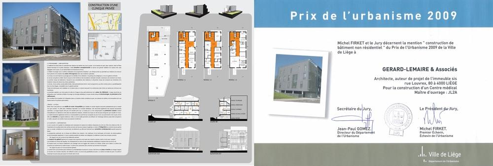 """PRIX DE L'URBANISME LIEGE 2009 - Mention """"construction de bâtiment non résidentiel"""""""