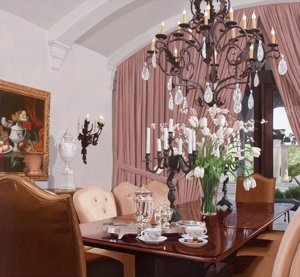 Dining Room with Still Life Painting