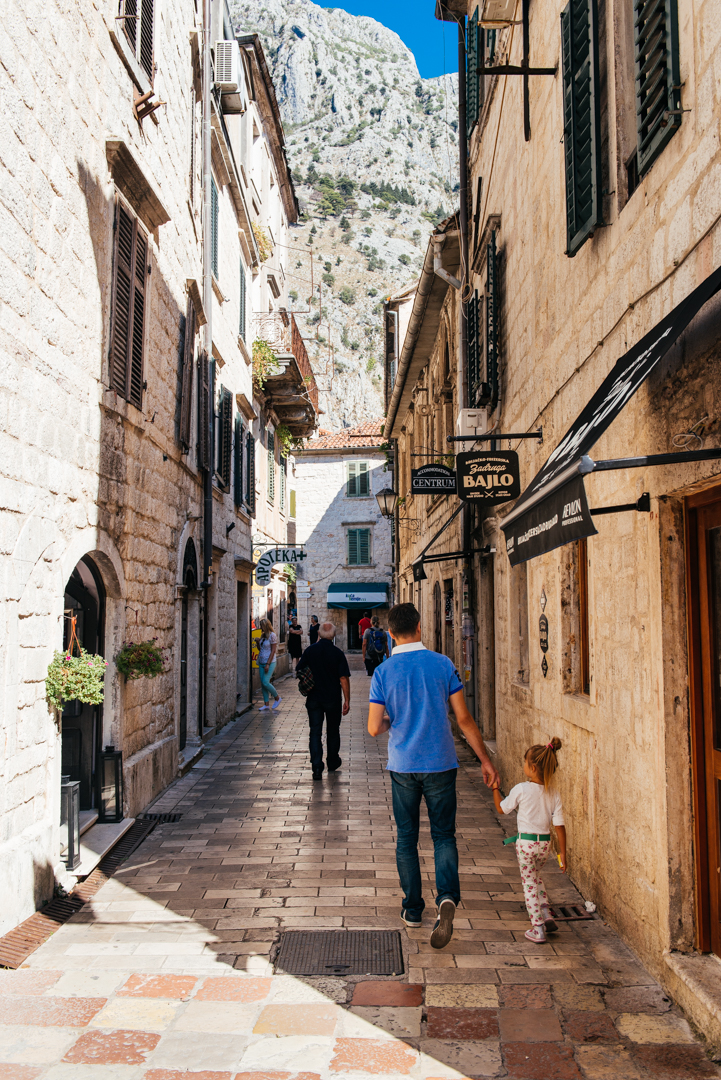 The tiled streets of Kotor were beautifully synced with the limestone buildings.