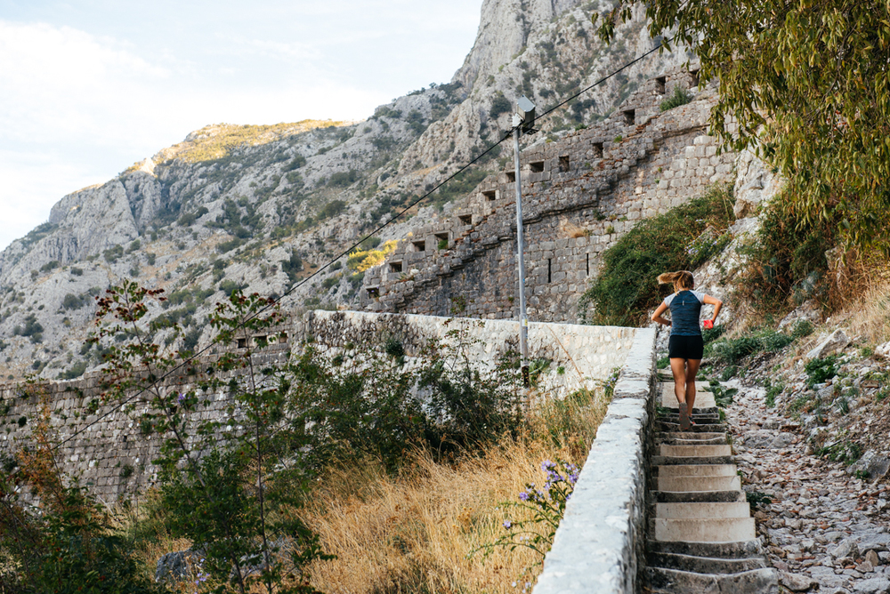 People like to challenge themselves by running up the 1,350 steps to the top of the Kotor walls.