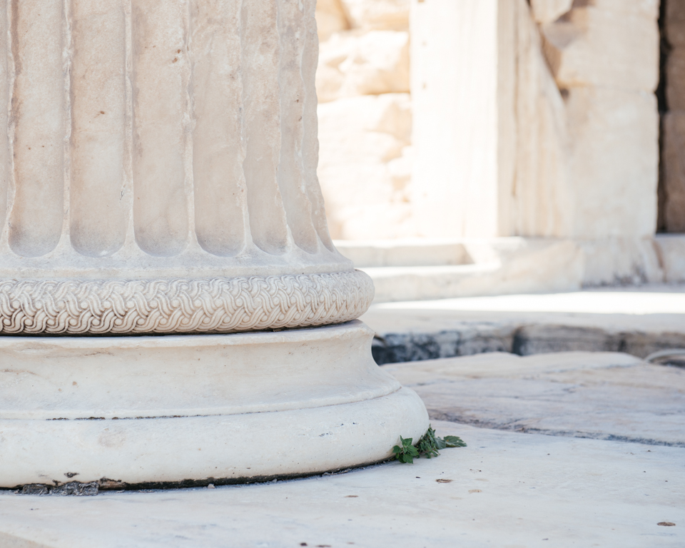 Detail of the massive Parthenon columns.
