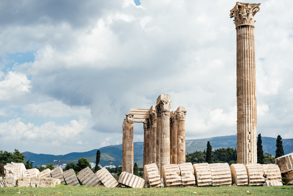 One of the columns from the Temple of Zeus that had fallen, giving you an idea of how they are constructed.