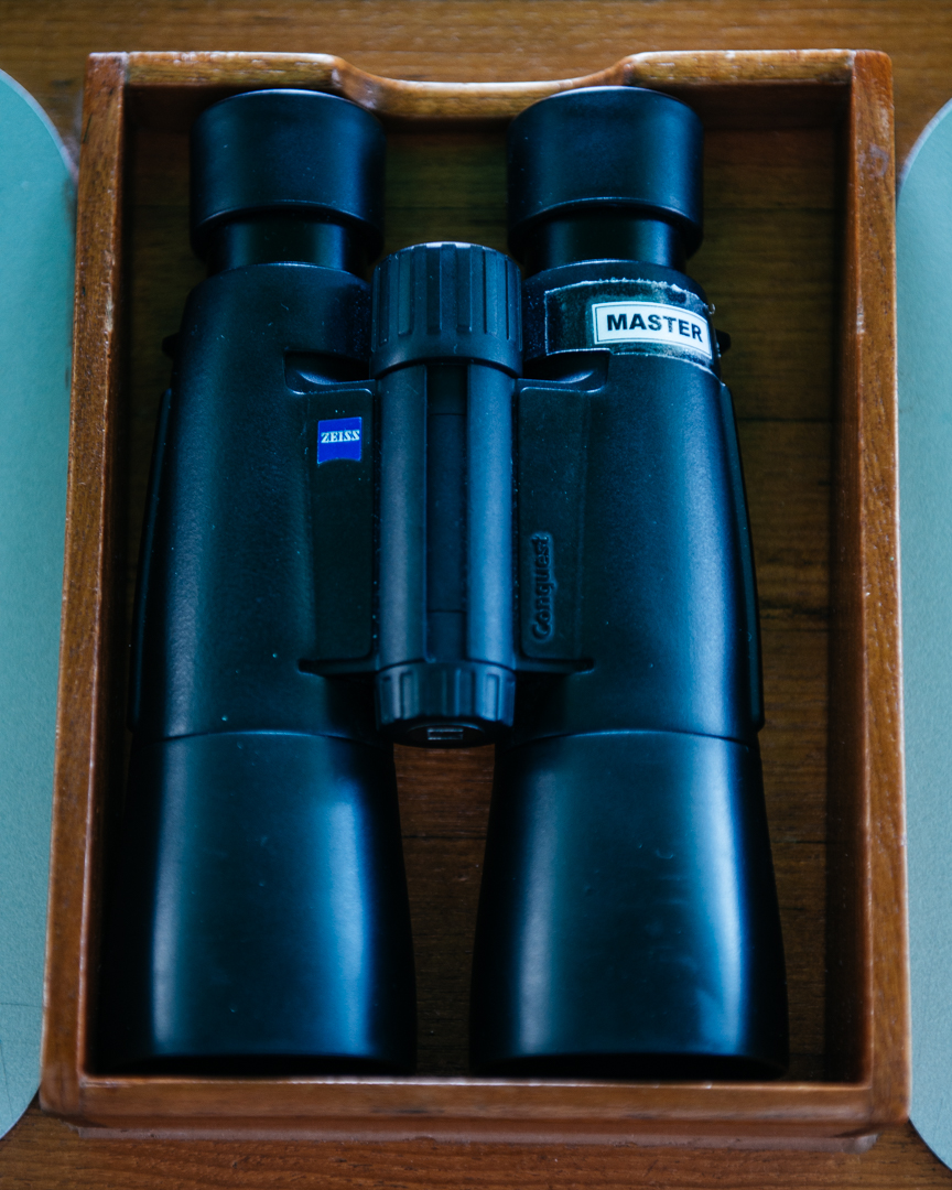 The master binoculars for the Officer of the Watch.