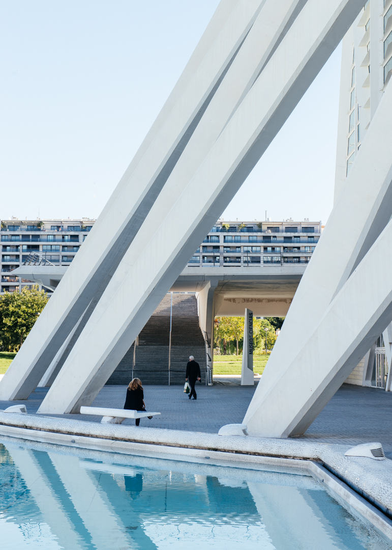 All around the  Museo de les Ciències Príncipe Felipe  is public space to relax and admire the architecture of Calatrava.