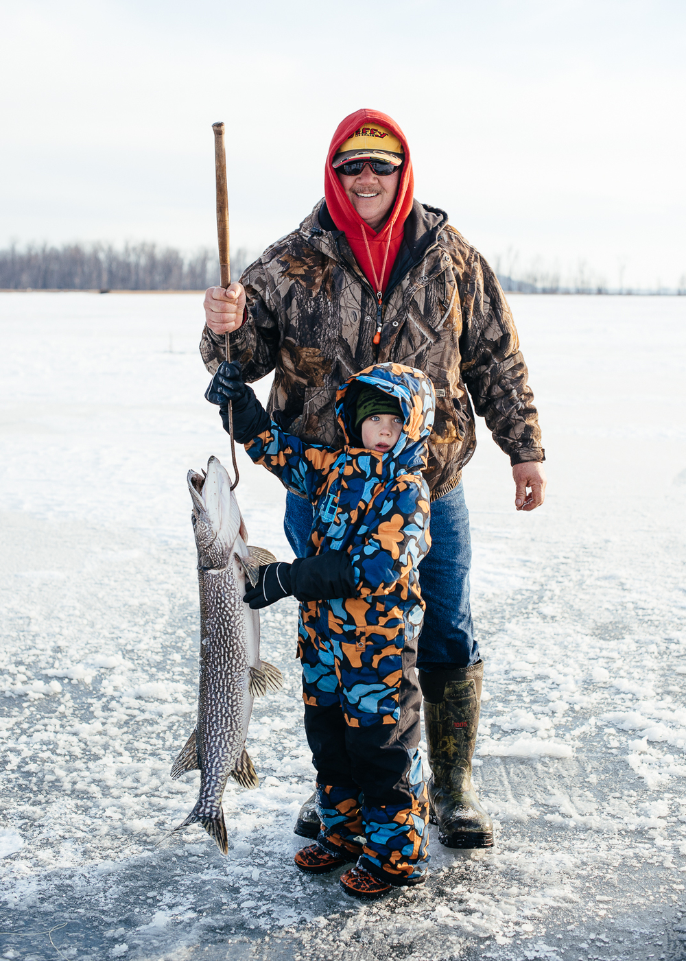 Bob, his grandson, and their 30+ inch Pike.