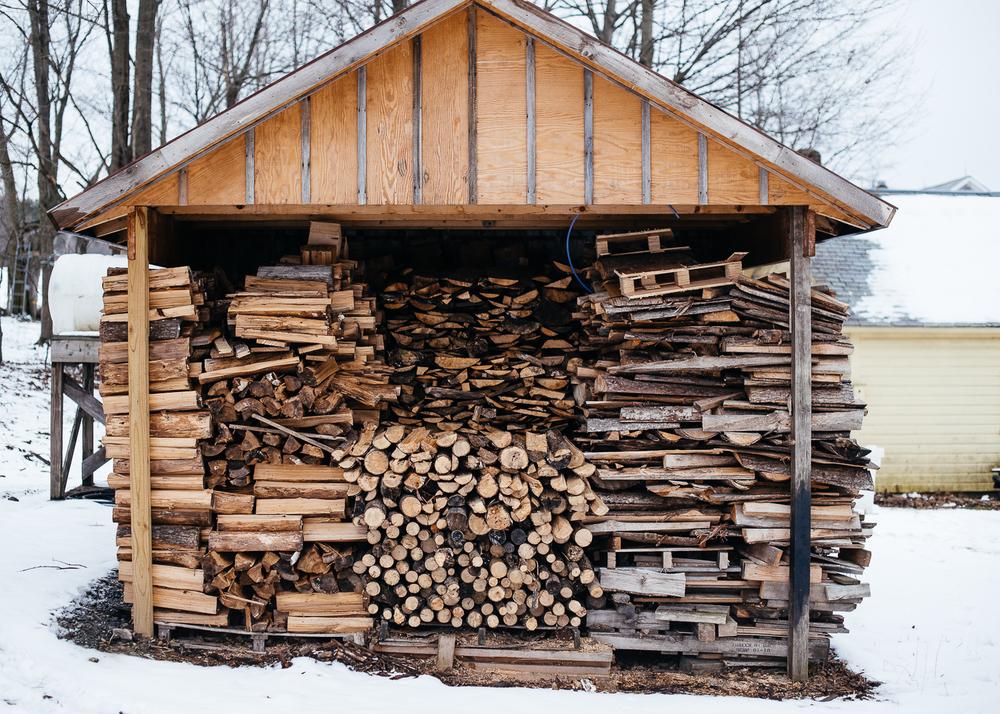 Wood fired sugar shack.