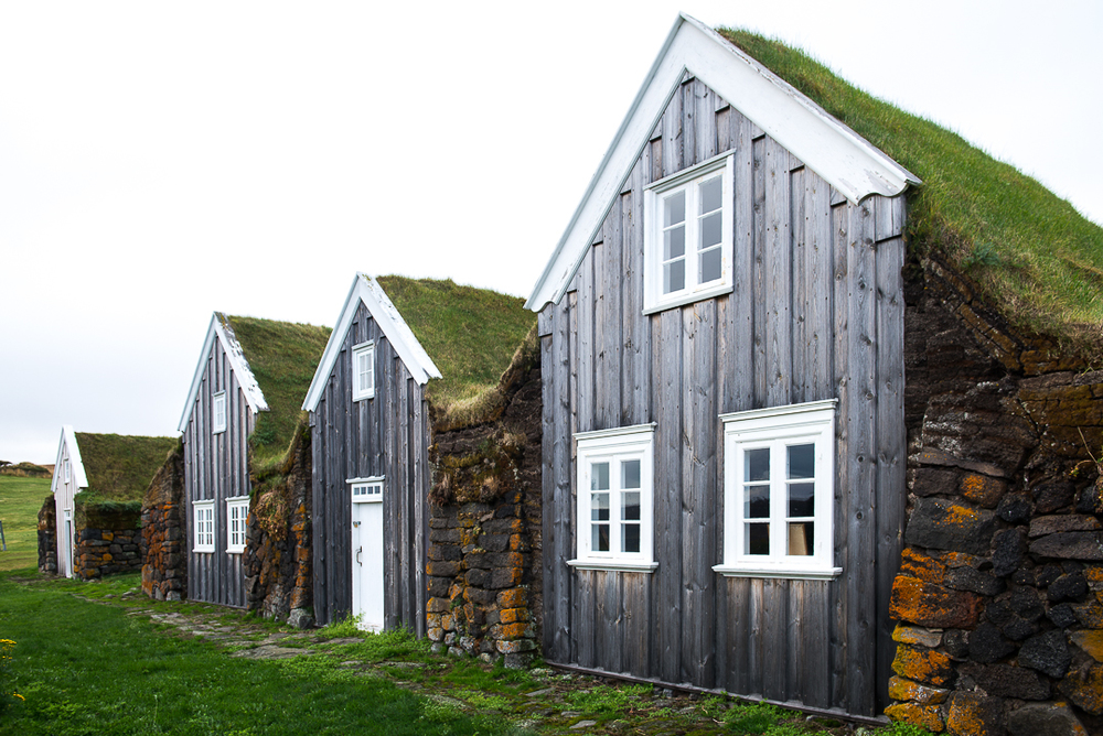 Turf house in Glaumbær.