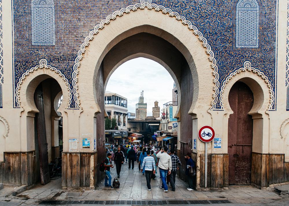 Bab Bou Jeloud - The Blue Gate, entrance to the old medina.