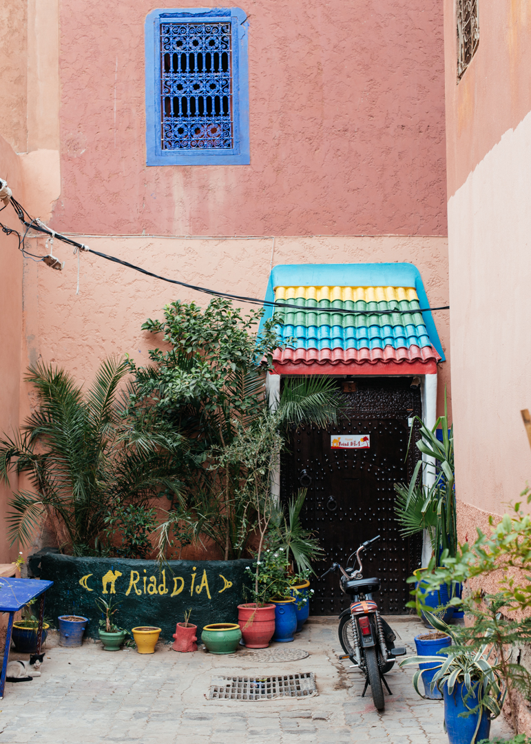 Our hostel for the night,  Riad Dia .