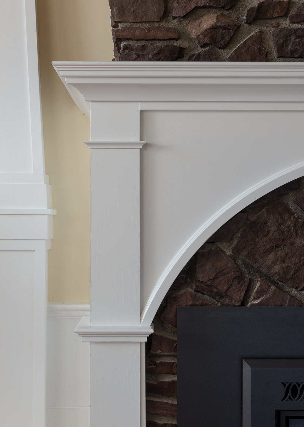 South Burlington, VT: Fireplace Detail