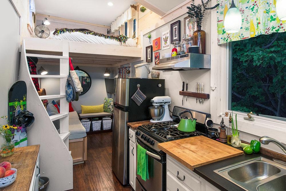 Jericho, VT. Chrissy Lou's Tiny Home Interior