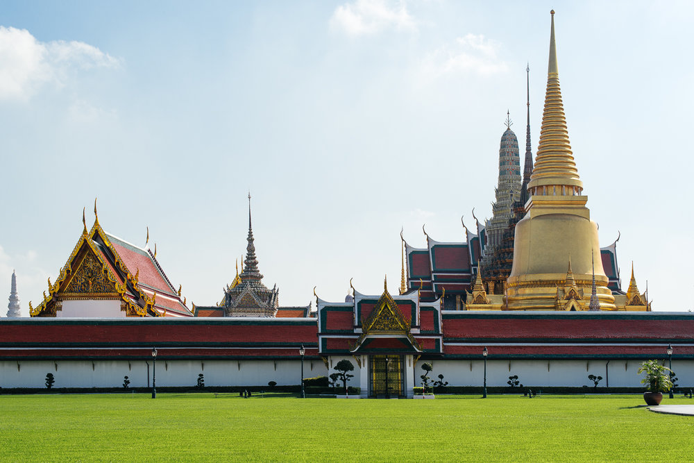 Northeast view of the Grand Palace.