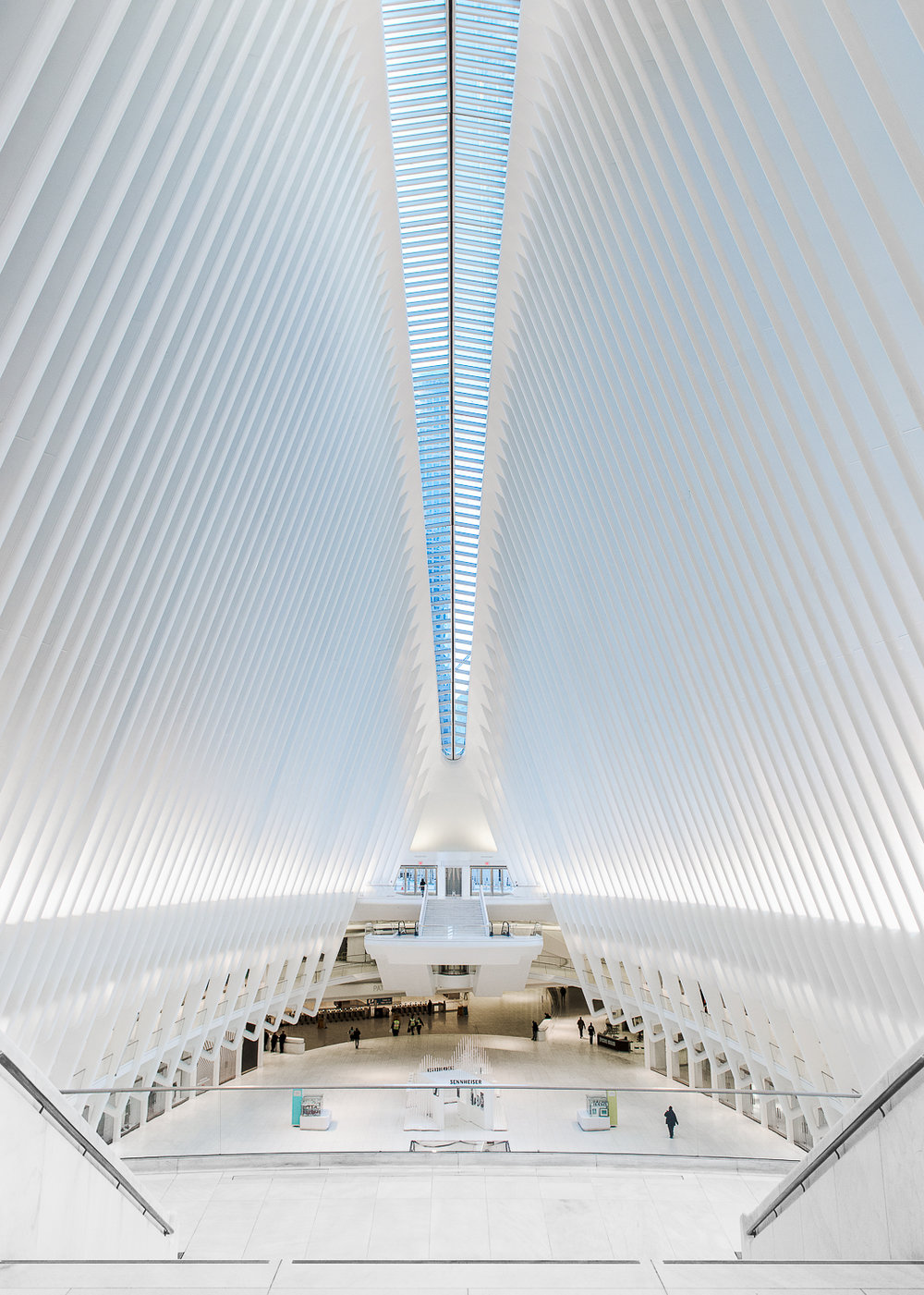 Interior of the Oculus terminal station.