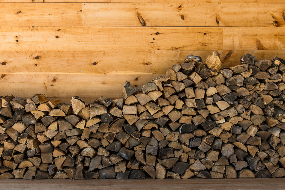 Wood stacked for the cold winter months.